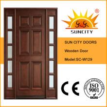 Living Room Main Entrance Wooden Door, Glass Wood Door