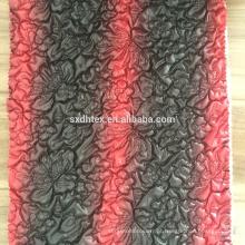 colchas de malha, 100% poliéster bordado tela de projeto para o casaco de inverno