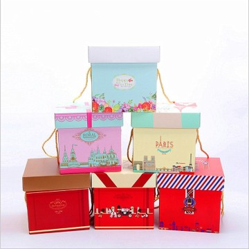 Wrapped Craft Paper Gift Box