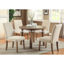 Round wooden dining table and fabric cover chair XYN1502
