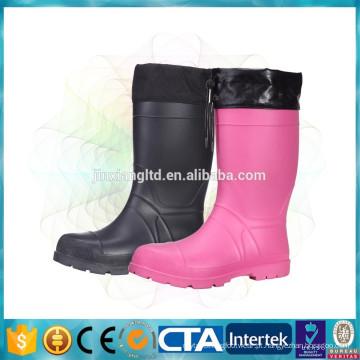Botas de neve impermeável botas de chuva térmica