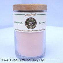 Bougies en verre parfumées / bougie en cire de soja avec couvercle