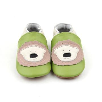 Zapatos de cuero unisex de bebé Animal Card Baby Loafer