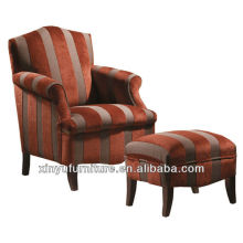 Good price striping sofa chair with comfortable footstool XYD426