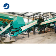 Linha de reciclagem automática de resíduos sólidos que classifica a linha de classificação de resíduos de máquinas residuais