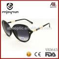 Italia gafas de sol de la moda de la manera de la señora con el metal y el acetato combinado templo