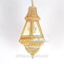 Decoración interior de las lámparas colgantes de cobre amarillo marroquí antiguo