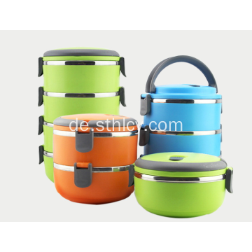 Edelstahl Multi-Layer Insulated Lunch Box Runde Form