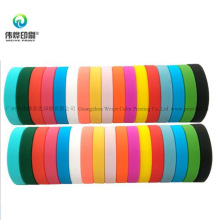 Colorful Promotional Printing Rubber Bracelet