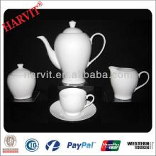 Ensemble de thé en porcelaine allemand / Théière en argile en céramique de style nouveau / Théière à thé super blanc Théière et soucoupe