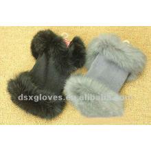 half finger cashmere gloves