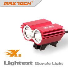 Maxtoch X2 2000LM 4 * 18650 Pack Intelligent LED 2 * cree Xm-l Bike