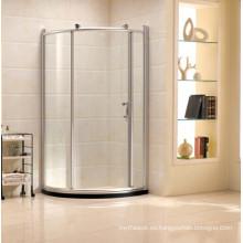 Simple ducha de vidrio templado con puerta corredera (R12)
