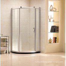 Simple Tempered Glass Shower Room with Sliding Door (R12)