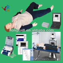 ISO Advanced AED et trauma Sims, mannequin de RCR, mannequin traumatisé aed ecg training