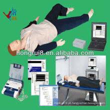 ISO Advanced AED e trauma Sims, manequim de CPR, manequim de trauma aed ecg training
