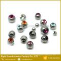 Kugeln aus rostfreiem Stahl Abdeckung Juwel, Body Piercing Schraube Gewinde Kugeln Ersatz 3mm 4mm 5mm