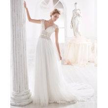 Цветок Жемчуг Линии Пляжа Свадебное Платье