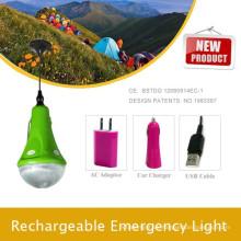 Super brillante led solares camping senderismo cargador del teléfono y lámpara