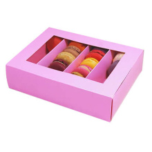 Cajas de macaron de papel modificadas para requisitos particulares al por mayor con el divisor