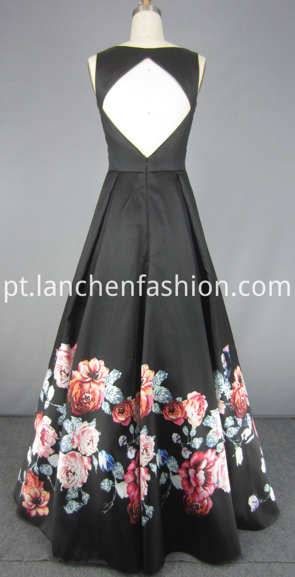 Evening Dress Long Black
