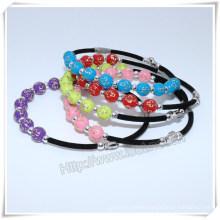 Religious Handmade Catholic Custom Cross Plastic Beads Bracelet (IO-CB166)