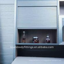Завод Алюминиевой Штарки Ролика Шкафа Алюминиевая Свертывает Вверх Двери