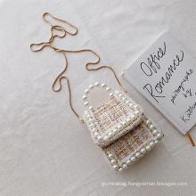 Hot Selling Fashion Purse Handbag Chain Shoulder Lady Bags Women Fashion Pearl Crossbody Bag