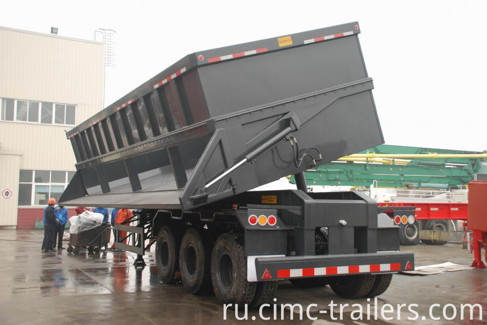 Work Tri Axle Side Dump Semi Trailer