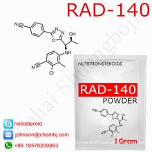 Poudre de Rad-140 118237-47-0 de poudre d'hormone stéroïde de vente d'usine pour le muscle