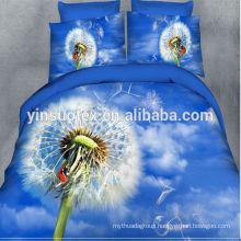 sky and dandelion pattern design 3d PRINTED BEDDING