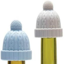 Rolha de silicone decorativa para garrafa de gorro
