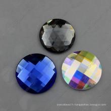 Perles de verre rondes décoratives colorées