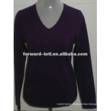 pure cashmere V neck pullover / jumper for ladies