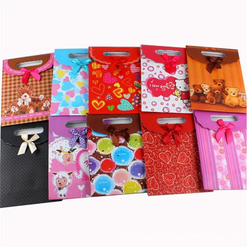 Saco de compras de papel personalizado com alça de fita