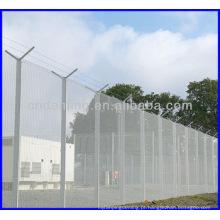 Cerca de alta segurança 358 Cerca de malha de arame 358 cerca de segurança Malha prisioneira Parede de arame Cerca anti-subida