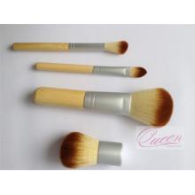 Mini 4PCS Bamboo Cosmetic Makeup Brush Set