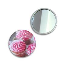 Miroir compact portable personnalisé de vente entière d'usine