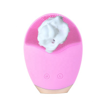 Electric Facial Cleansing Silicone Brush Ultrasonic Cleaner