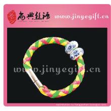 ShangDian Ручной Работы Красочные Трубки Кожа Wirstband