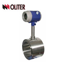 stainless steel intelligent free shipping 4~20ma type flow meter wafer connection DN80 vortex flowmeter with display