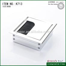 80*80mm alloy computer desk cable wire box/office desk grommet