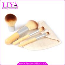 Heißer Verkauf 4 Stück Erde-freundlichen Bambus billige Make-up Pinsel Sets Großhandel