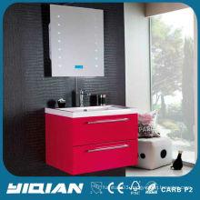 high gloss china unit red cheap PVC modern bathroom vanity cabinet