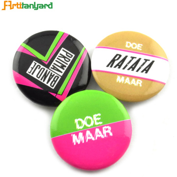 OEM Tin Button Badge met afdrukken Logo
