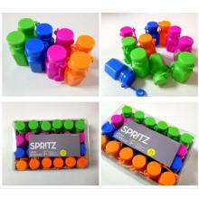 juguete de botella de agua de los niños con la caja de la píldora