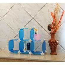 Estante de exhibición del cubo del almacenamiento del cuarto de baño (FH-AL13)