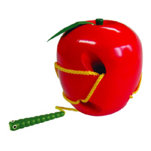 Wooden Lacing Apple (80158)