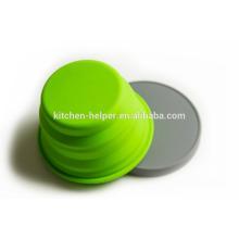 Custom projetado Grade alimentar resistente ao calor Travel plástica Eco Friendly Silicone Pet Bowl / colapsável Pet Dog Cat Bowl