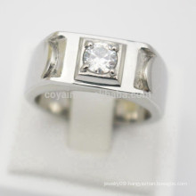 Design Your Own Silver Jewelry Cheap Stainless Steel Men Women Engagement Rings Diamonds